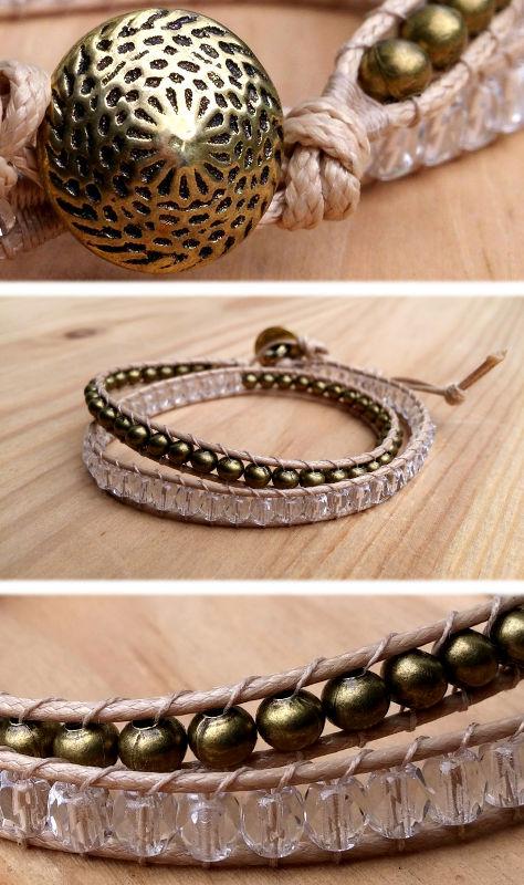 Bracelet 2 tours perles