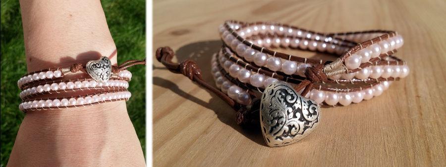 Bracelet 3 tours perles