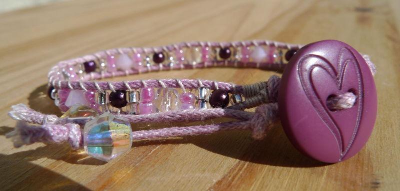 Bracelet-fillette-bouton-coeur