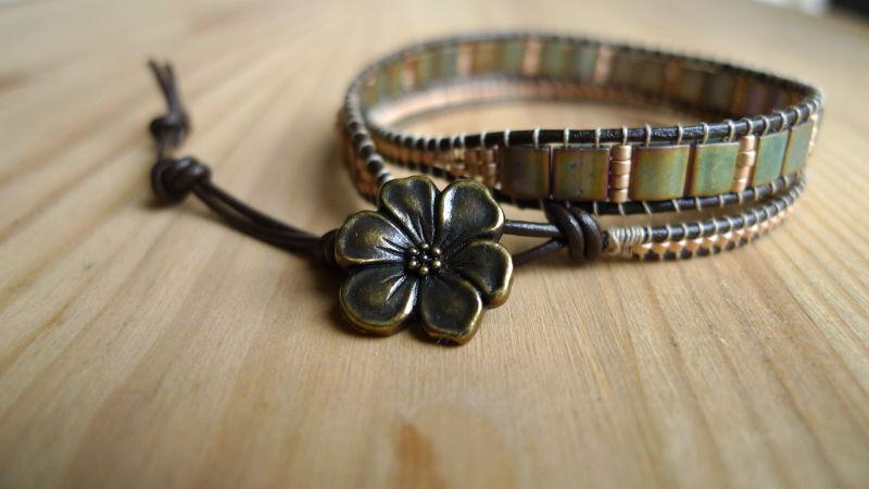 bracelet-tila-kaki-fleur-bronze-WP