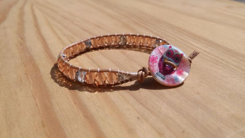 bracelet-fillette-pêche-argent
