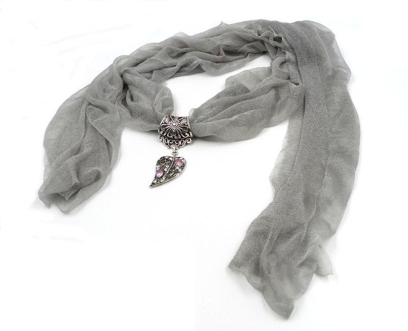 foulard-bijou-gris-argente