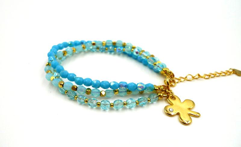 bracelet-3-rangs-trefle-bleu