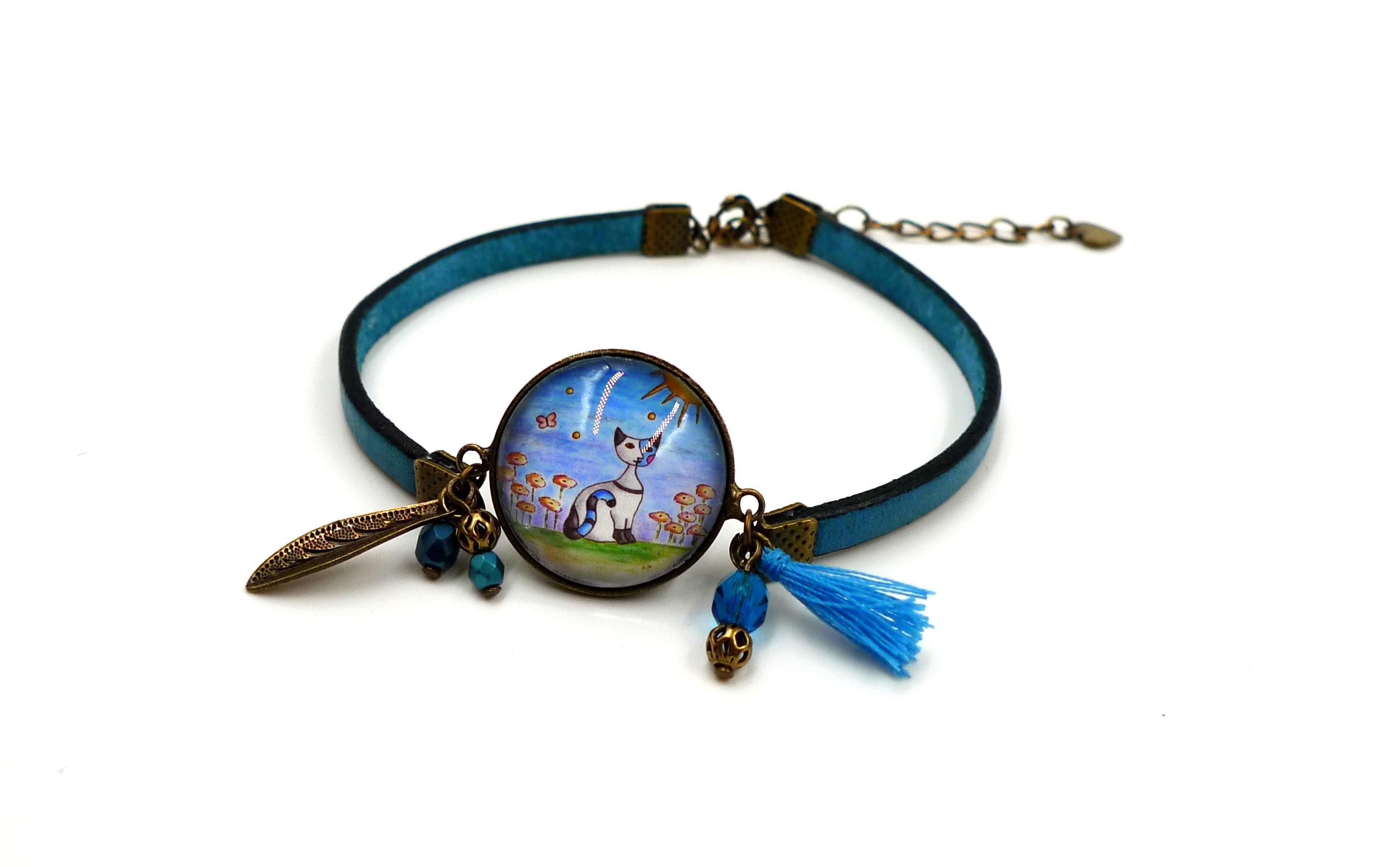 bracelet-cabochon-chat-alm